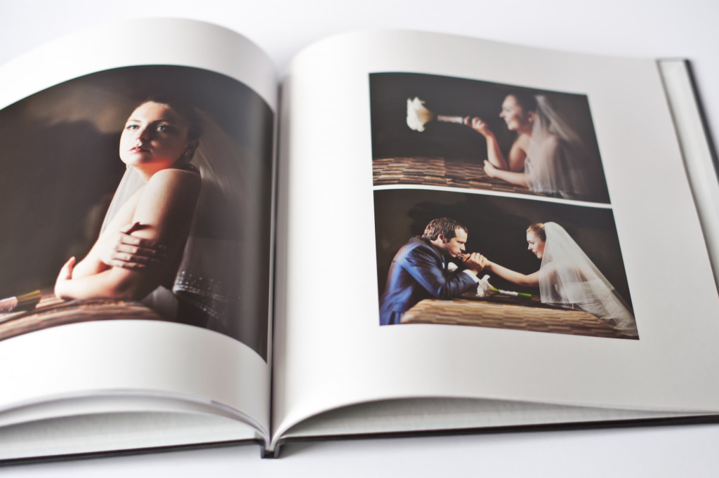 Wedding photo book of  groom and bride together